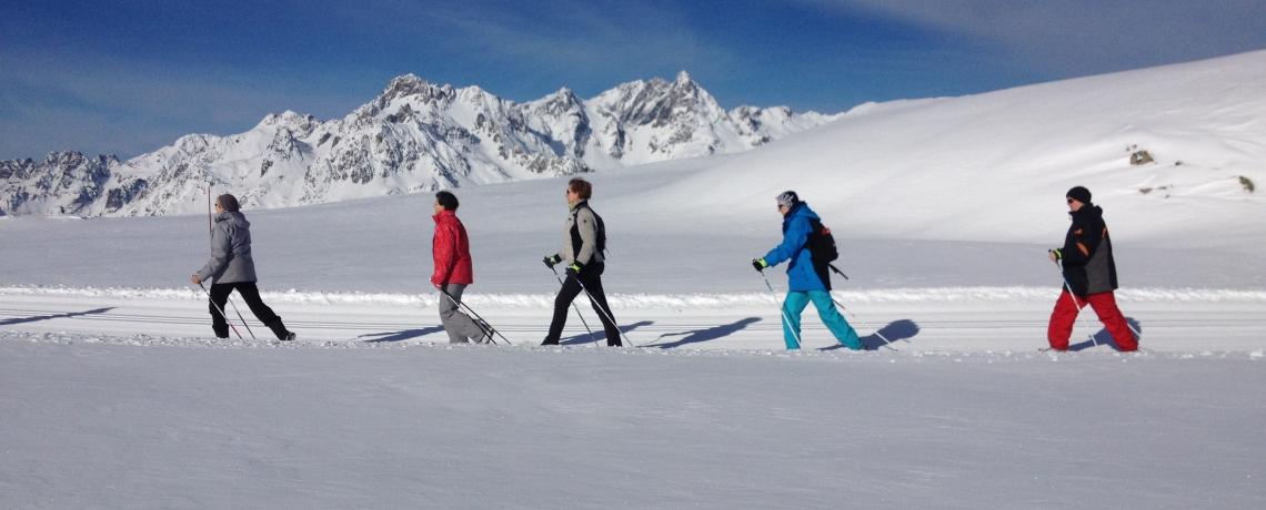 Parcours permanent de marche nordique sur neige