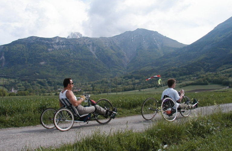 Handbike avec l'association Free-Mouse