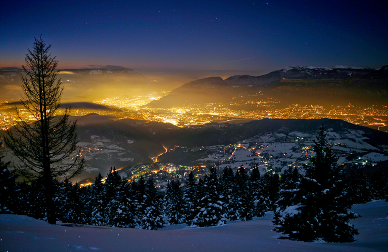 Photo itinraire nocturne Chamrousse